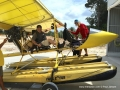 Flying seaplanes in Bintan - Chee Yong disembarking