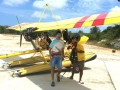 Flying seaplanes in Bintan - Paul Jansen disembarking