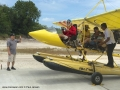 Flying seaplanes in Bintan - Paul Jansen strapping in