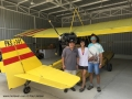 Flying seaplanes in Bintan - trio inside the hangar