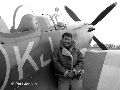 Paul Jansen with a Supermarine Spitfire