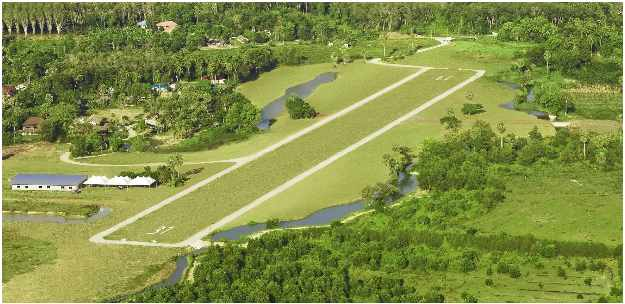 Phuket Airpark's 800m grass strip stretches like a welcome mat. Copyright: Phuket Airpark.
