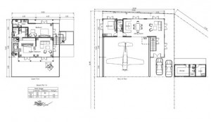 Plan view of an Airpark home.