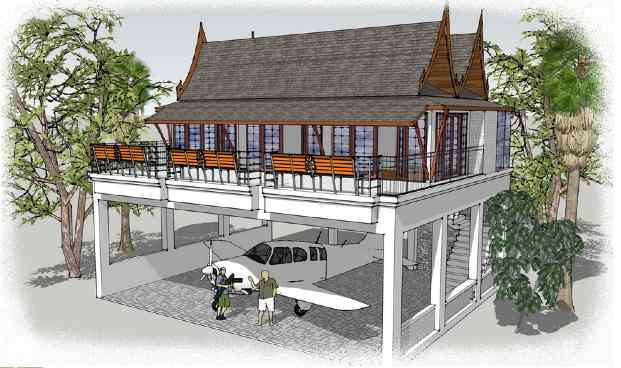 Destinations: Artist impression of a villa in Phuket Airpark