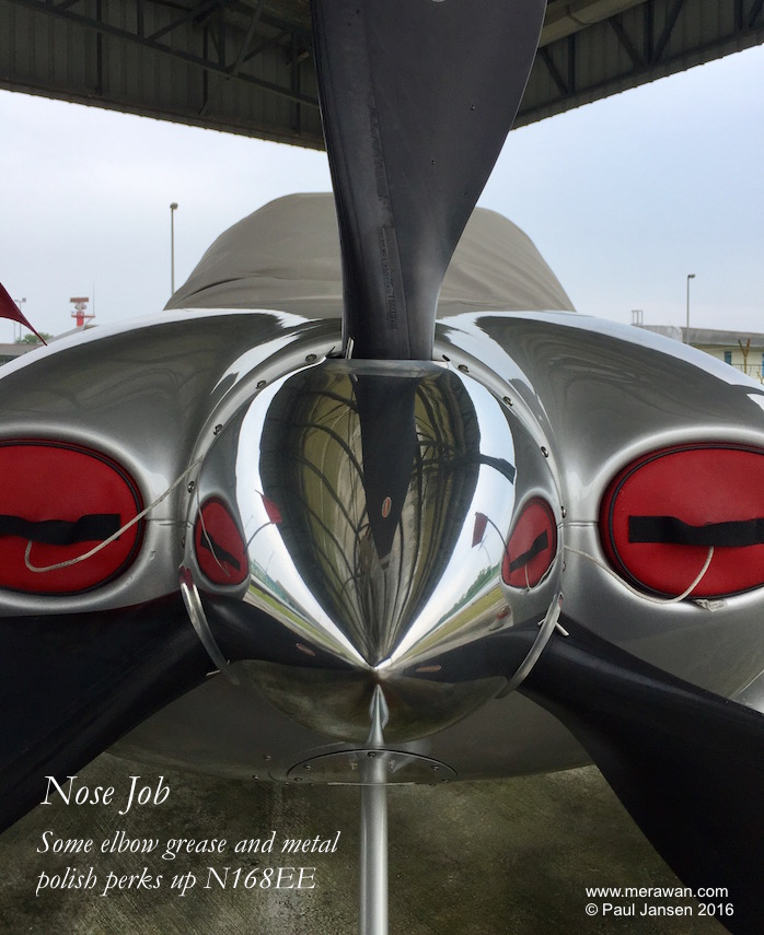 Cirrus SR22 N168EE gets a nose shine