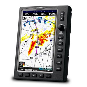 Garmin GPSMAP 695 displaying airways
