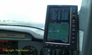 G-Force GF-2 mount putting a Garmin 695 at eye-level in a Cessna 150