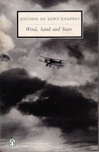Cover of the book Wind, Sand and Stars by Antoine de Saint Exupery. Publisher: Penguin.