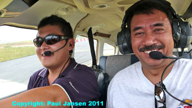 Ted Cheng and Paul Jansen aboard 9M-PRJ