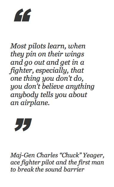 Quote from Chuck Yeager