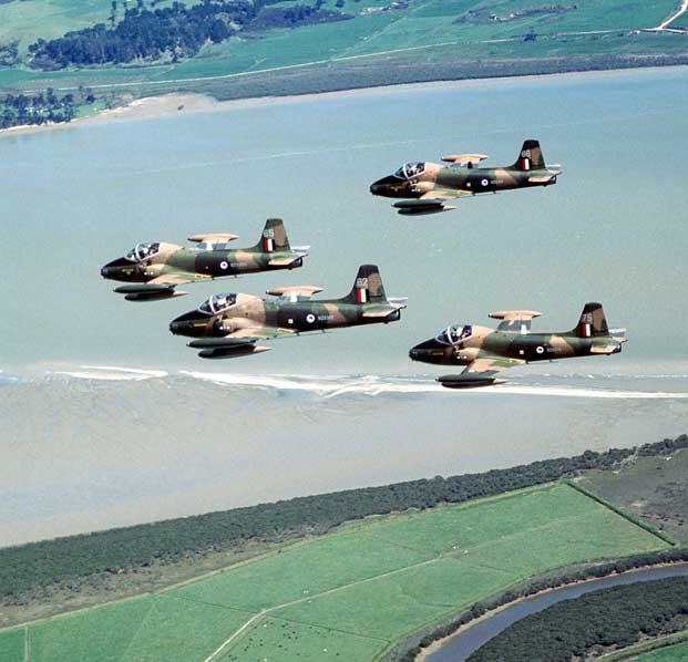 RNZAF Strikemasters in formation
