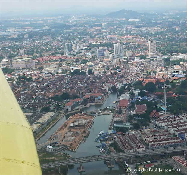 Abeam Malacca in a Piper Warrior II, 9M-PRJ