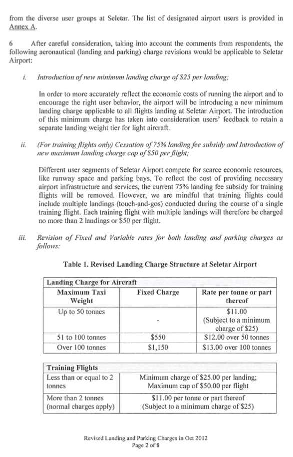 Seletar airport parking fees Page 2
