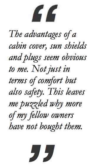 Quote on cabin cover value