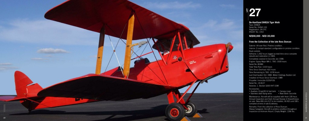 Well-restored Tiger Moth for sale