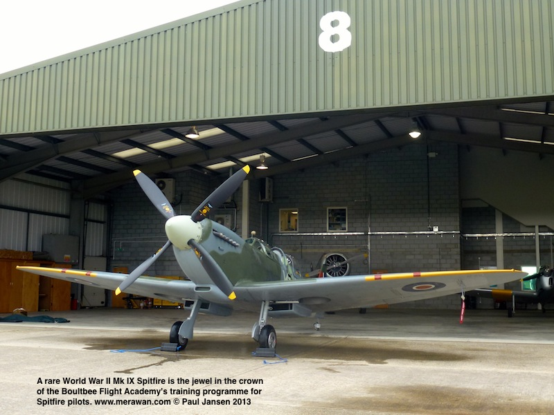 This 2 million pound Sterling fighter aircraft is the centrepiece of the only  Spitfire training school in the world today.