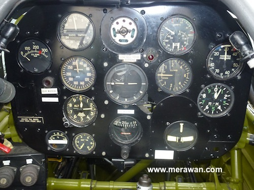 Harvard rear cockpit panel