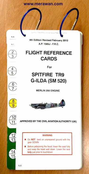 G-ILDA Spitfire Flight Reference Card