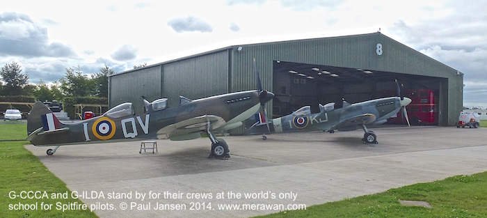 Spitfires waiting for a weather break