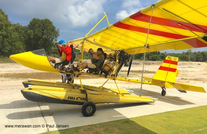 Flying a seaplane in Bintan