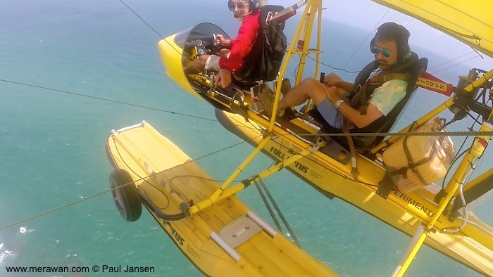 Flying seaplanes in Bintan - Paul Jansen looking down