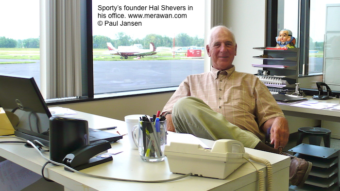 Sporty's founder and chairman Hal Shevers